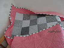 Textil - Patchwork prehoz do postieľky - 9653134_