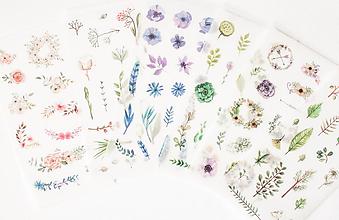 """Papier - Akvarelový set - nálepky """"Floral"""" - 9653431_"""