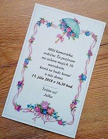 Papiernictvo - pozvánka na oslavu narodenín - 9653573_