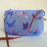- Motýliková kabelka (Džínsová) - 9651745_