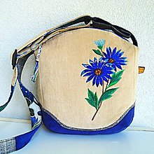 Kabelky - Menčestrová kabelka  (Modrá svetlobéžová) - 9651743_