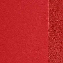 Suroviny - Exkluzívna koža - 15x15 cm žiarivo červená - 9652368_