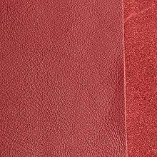 Suroviny - Exkluzívna koža - 21x23 cm čerešňová - 9652522_