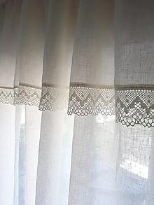 Úžitkový textil - Ľanová záclona Dreams Come True - 9654559_