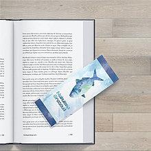 Papiernictvo - Watercolor rybacia záložka do knihy - 9651979_