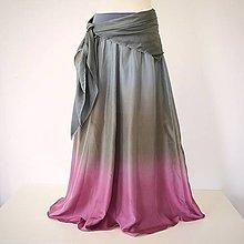 Sukne - Jako po babičce 2 - dlouhá hedvábná sukně - 9652252_
