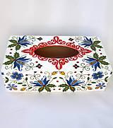 Krabičky - Krabica na vreckovky- ornamentová - 9657775_