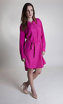 Šaty - Dámske košelové šaty Pink - 9657500_
