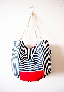 Veľké tašky - Velikánska námornícka plážová taška - 9656844_