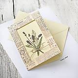 Papiernictvo - Pohľadnica Levanduľová kytička 2D - 9657851_
