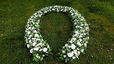 Dekorácie - Biela svadobná girlanda - 9657318_