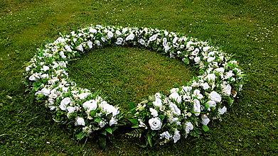Dekorácie - Biela svadobná girlanda - 9657323_
