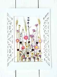 Dekorácie - Obraz so sušenými rastlinami - 9656208_