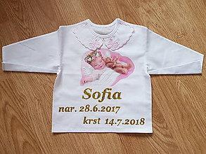 Detské oblečenie - Košieľka na krst - 9656450_