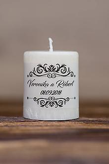 Darčeky pre svadobčanov - Menovka alebo darček pre svadobčanov - Sviečka - Vzor č.28 - 9656382_