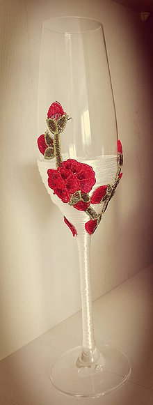 Darčeky pre svadobčanov - Na skle vyšívané... - 9656756_