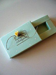 Krabičky - pearl mint - krabička na Usb - 9657306_