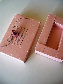 Krabičky - pearl rose- krabička na Usb - 9657317_