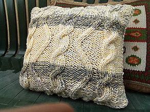 Úžitkový textil - Pletená obliečka na vankúš - 9656796_