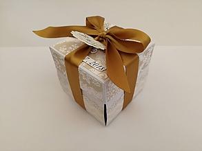 Papiernictvo - Krabička na peniaze V zlatej - 9655618_