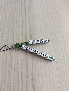 Kľúčenky - Zelená kľúčenka škoda octavia - 9657767_