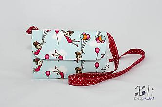 Detské tašky - Detská kabelka - pastelkovníčka Dievčatá s balónmi (vrátane vnútorného vybavenia) - 9657738_