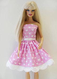 Hračky - Srdiečkové šaty pre Barbie - 9657875_