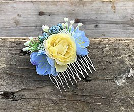 Ozdoby do vlasov - Kvetinový hrebienok - 9656553_