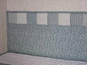 Úžitkový textil - Šedá zástena s šedo-bielym lemom - 9655594_