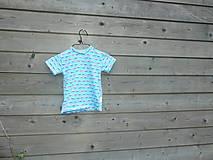 Detské oblečenie - Tričko s autobusom - tyrkys - 9657559_