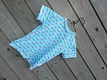 Detské oblečenie - Tričko s autobusom - tyrkys - 9657560_