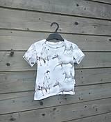 Detské oblečenie - Tričko s koníkmi - biele - 9657582_