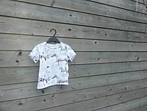 Detské oblečenie - Tričko s koníkmi - biele - 9657583_