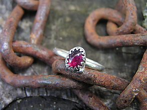 Prstene - Strieborny prsteň Ag925 Granát - 9657162_