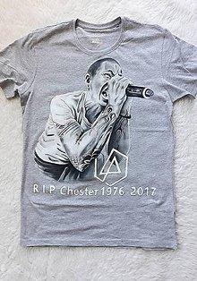 Tričká - R.I.P Chester tričko - 9656154_