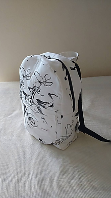 Batohy - Art batoh (backpack) čierno-biely - 9657042_
