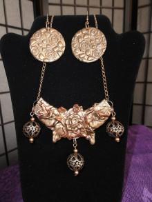 Sady šperkov - Medená kytica - 9657627_