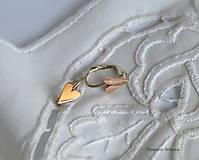 Náušnice - napichovacie náušnice - srdiečka (náušnice srdiečka) - 9655099_