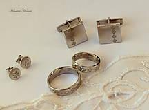 Šperky - Manžetové gombíky s folklórnym vzorom (Čičmany vločka) - 9656356_
