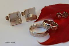 Šperky - Manžetové gombíky s folklórnym vzorom (Čičmany vločka) - 9656359_