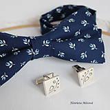 Šperky - Manžetové gombíky s folklórnym vzorom (srdiečko) - 9656596_