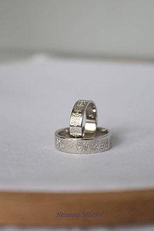 Prstene - folk svadobné obrúčky Detva - 9655073_