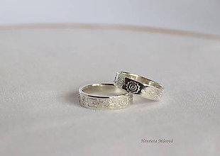 Prstene - Obrúčky - Považie (Strieborné obrúčky Horné Považie/Púchov) - 9655153_