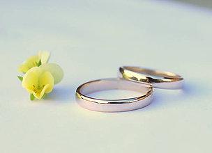 Prstene - minimalistické obrúčky (Zlatá) - 9655168_