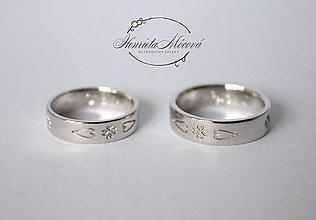 Prstene - folk svadobné obrúčky Čičmany - 9655196_