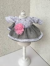 - Šatočky pre bábiky- 25-27 cm - 9656575_