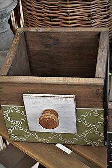 Nábytok - Vidiecka sada starej zásuvky a lopára  (debnička samostatne zelená) - 9657387_