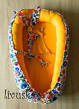 Textil - XL Hniezdo pre bábätko kvety - 9660246_