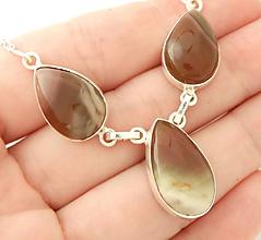 Náhrdelníky - 925 strieborný náhrdelník s achátom - 9660667_