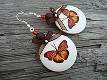 - VÝPREDAJ - ZĽAVA :) (povodná cena 3,2 euro) Náušnice Motýľ nostalgik  - 9659254_